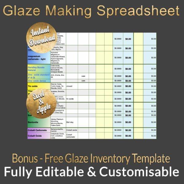 TITLEGlaze Spreadsheetb