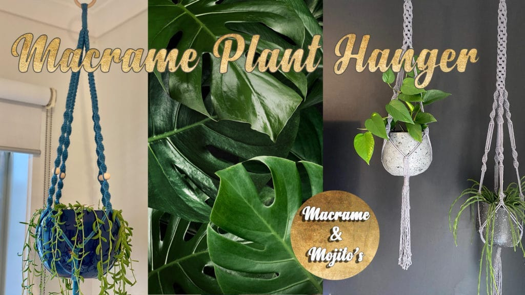 Hazy Tales Macrame Clay Plant Hanger Geelong