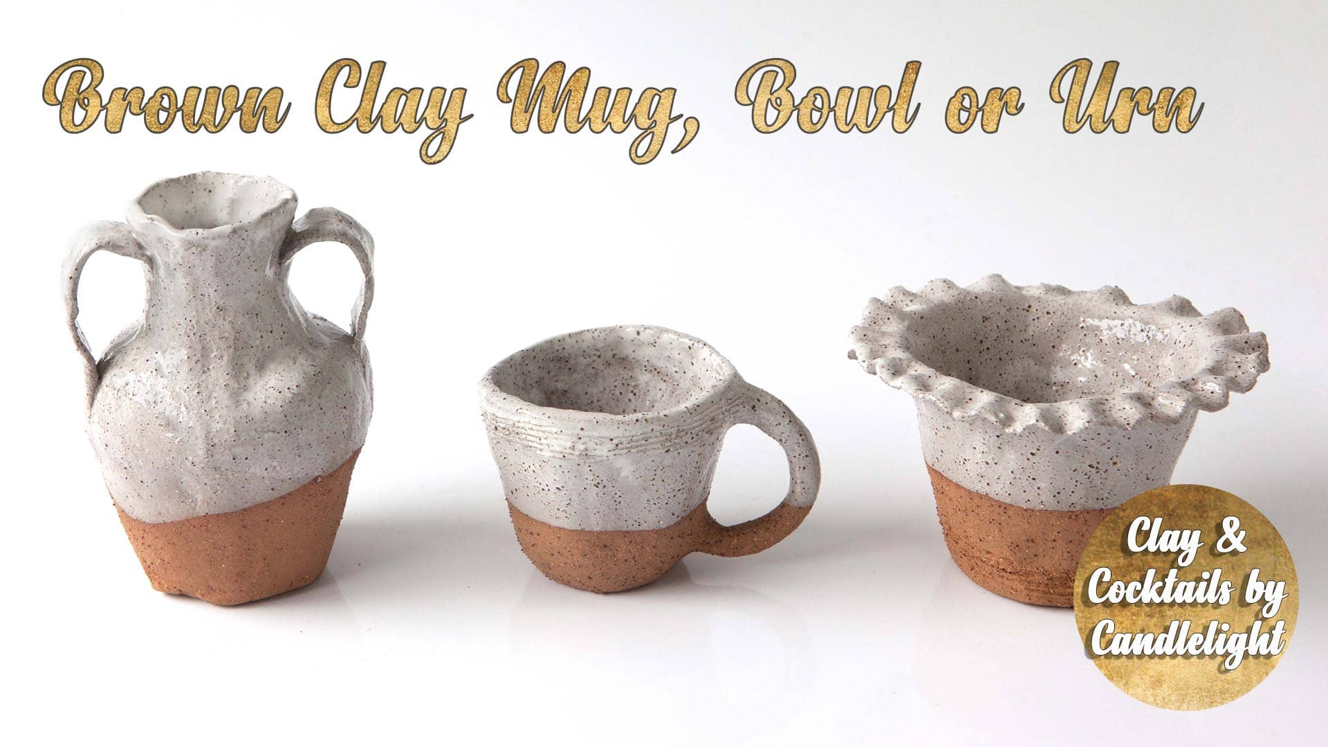 Pottery Class - Brown Clay Mug Bowl or Urn