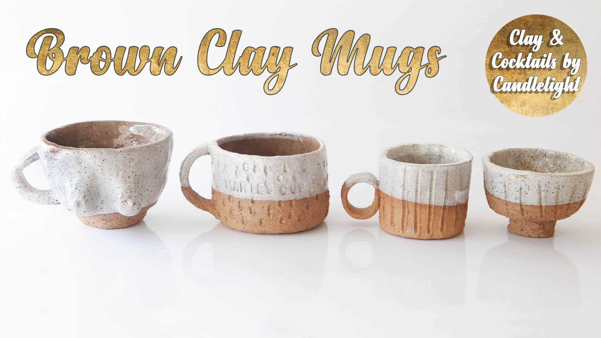 Pottery Class - Brown Clay Mugs