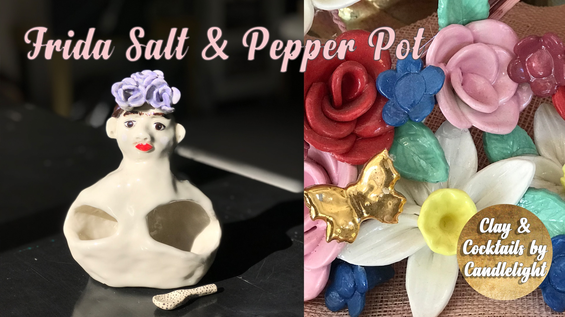 Pottery Class - Frida Salt and Pepper Pot
