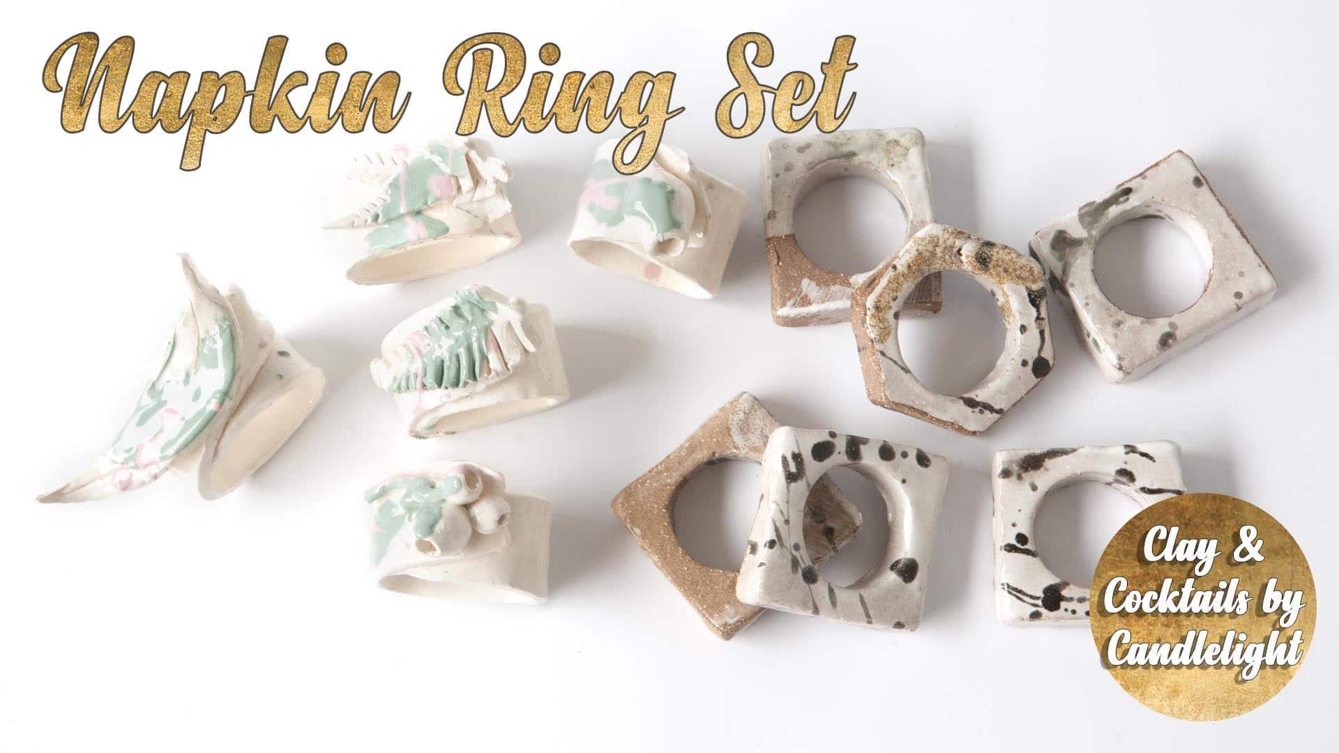 Pottery Class - Napkin Ring Set